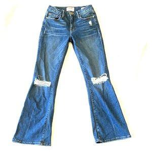 SOLD FRAME Denim Le Crop Mini Boot Jeans sz 24